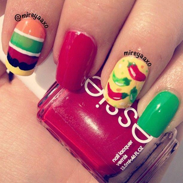 Cinco de mayo nails by Mireyaaxo