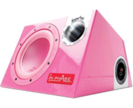 96 Feminine Tech Finds  #3 Ladylike Listening  In Phase Launches World's First Pink Car Subwoofer [see source page for link to full article]