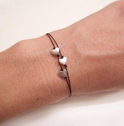 Simple Bracelet Silver Bracelet Friendship von WaterHorseStudios