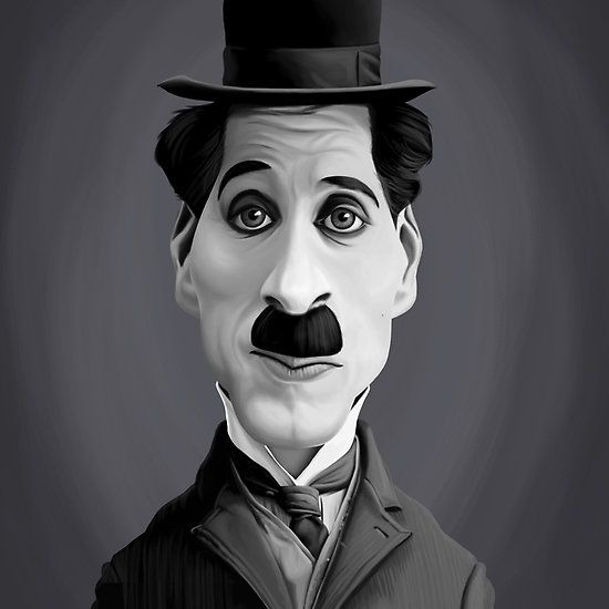Charlie Chaplin art | decor | wall art | inspiration | caricatures | home decor | idea | humor | gifts