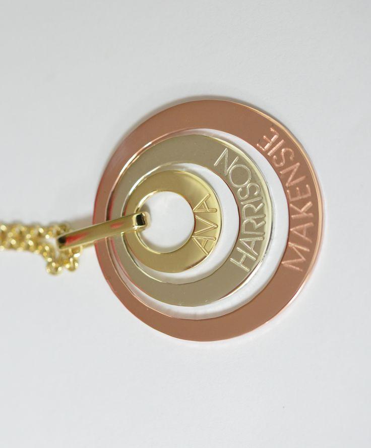 Personalised pendants 9ct yg, wg & rg.