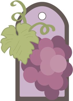 Grape Gift Tag Wine perfect when giving a wine bottle