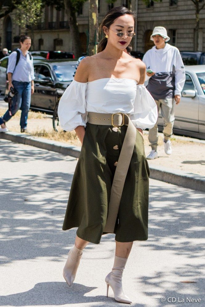 Chriselle Lim Dior Haute Couture Street Style Paris Fashion Week Aw17 Bufantes Mangas
