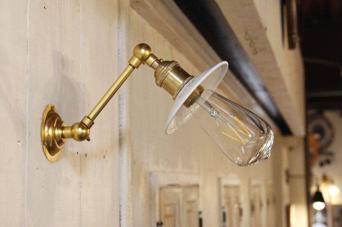 【エジソン型 LED付き】ブラケット ライト ランプ 照明。【エジソン型 LED付き】ブラケット ウォールライト ランプ 間接 照明 壁 リビング 廊下 洗面所 店舗 インテリア おしゃれ シンプル レトロ インダストリアル ヴィンテージ アンティーク ブルックリン ニューヨーク - Trinity トリニティ -