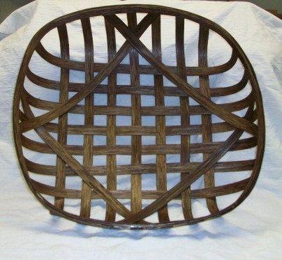 18 x 18 Tobacco Basket by crescentmoonprim on Etsy, $48.00