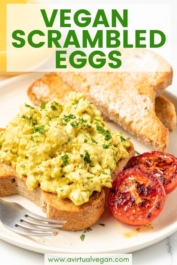 Vegan Scrambled Eggs Recipe Tofu Recipes Vegan Egg Free Breakfast Vegan Breakfast Recipes