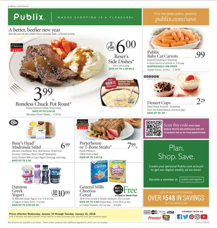Publix Weekly Ad January 10 - 16, 2018 - http://www.olcatalog.com/grocery/publix-weekly-ad.html