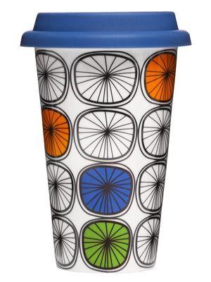 Dandy takeaway krus med silikonlokk Porselen. Dobbeltvegg. Størrelse: 25 cl. H 150 mm.