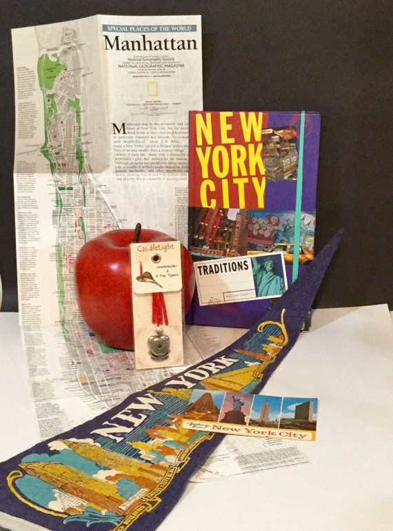 The Big Apple... Literally New York collection by VeryUsVintage