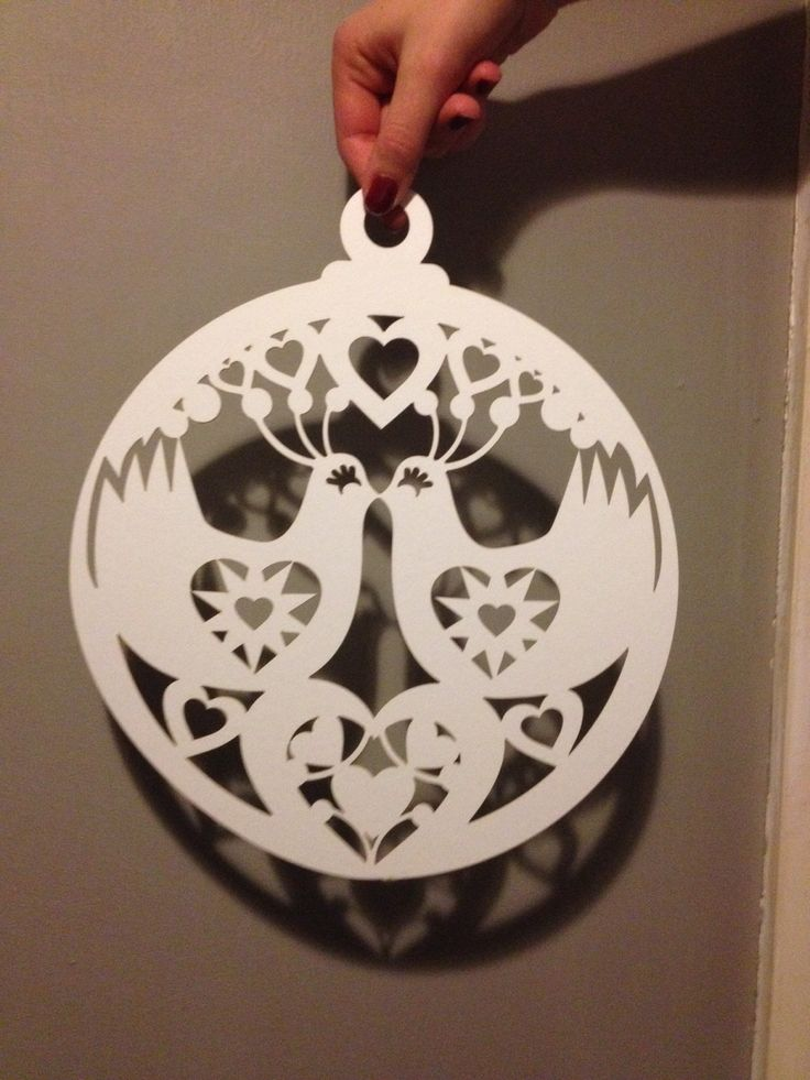 Lasercut card christmas decorations available for sale, by Alison Bick