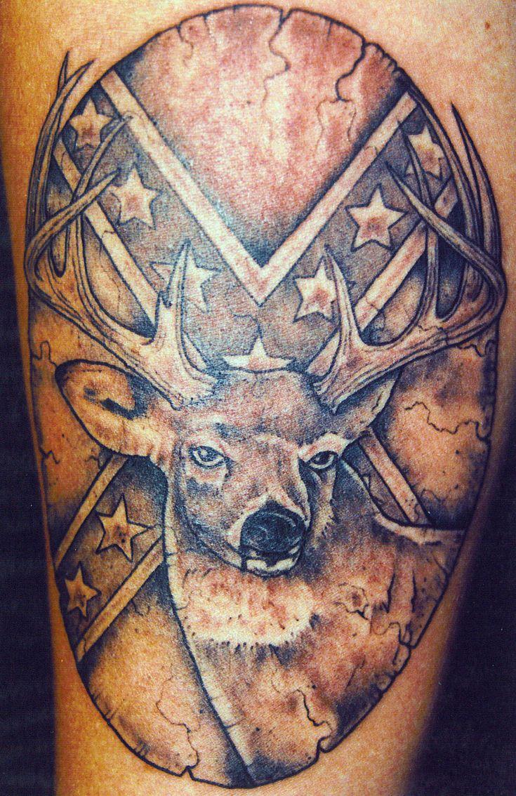 Deer Hunting Tattoos Designs