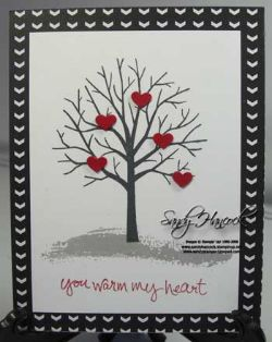 Sheltering Tree set with Stacked with Love Designer Series Paper and the Hearts Border Punch