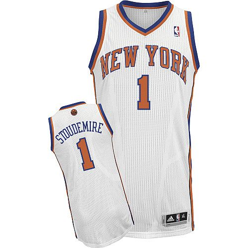 New York Knicks Amare Stoudemire 1 White Authentic Jersey Sale