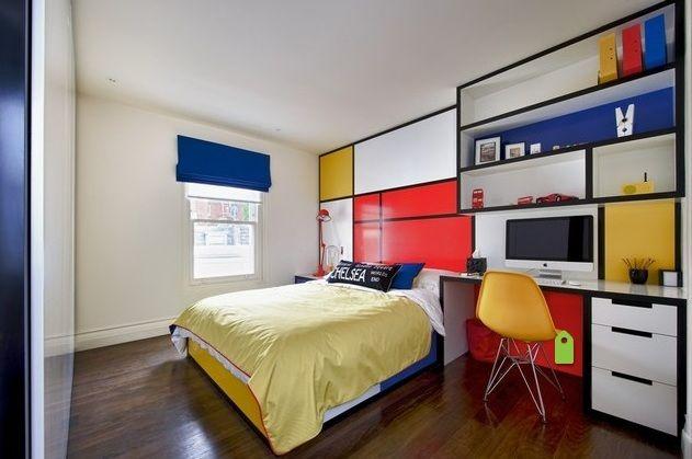 Mondrian-inspired scheme