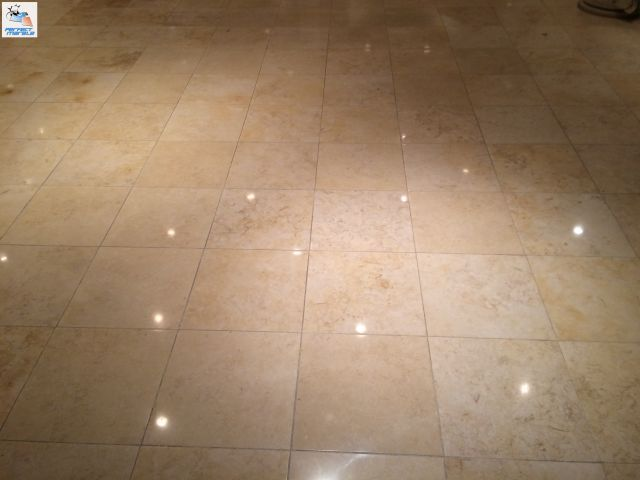 Perfectmarblefloors A Another Section Of This Marble Floor Is Restored And Polished