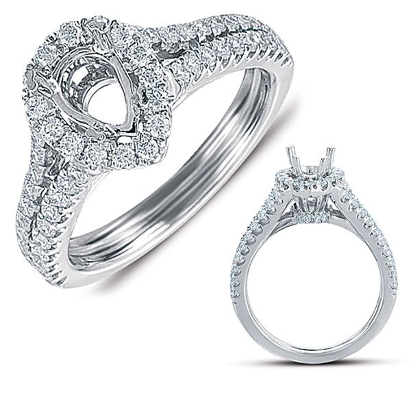 Engagement Rings, Pave Engagement Ring, Wholesale