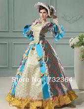 Luxe freeship middeleeuwse jurk dress kostuum koningin victorian renaissance gothic lol/marie antoinette/burgeroorlog/koloniale belle(China (Mainland))
