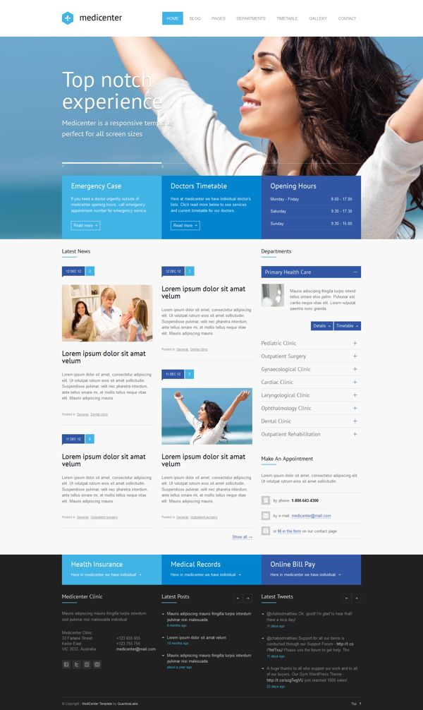 MediCenter \u2013 Responsive Medical Health Template by QuanticaLabs