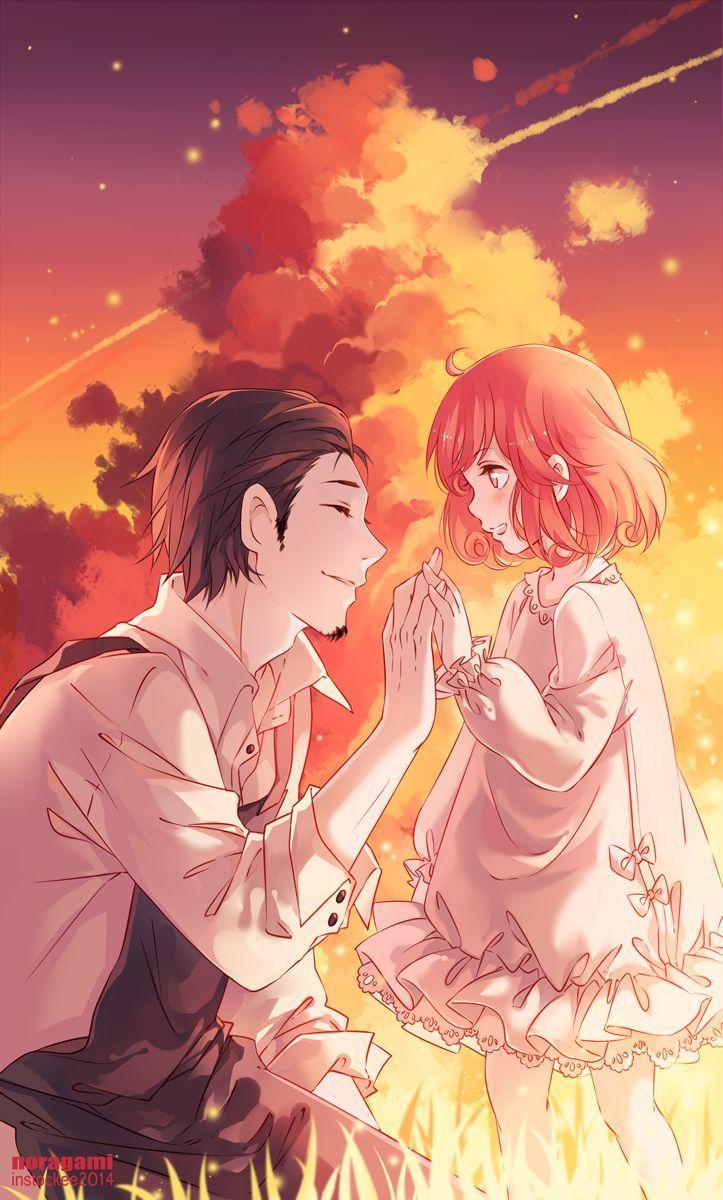 "manga-anime-monochrome1love: ""  Noragami -  The reincarnation god and their shinki """