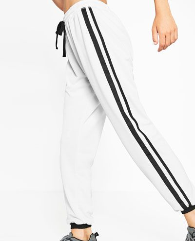 STRIPED JOGGING TROUSERS-View all-GYMWEAR-WOMAN | ZARA United States