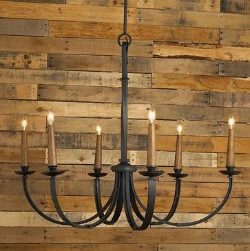 Modernized Rustic Iron Chandelier - Large - chandeliers - Shades of Light