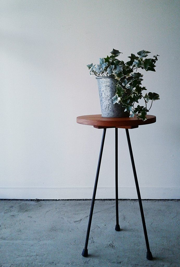 Side Table in Rimu and Steel