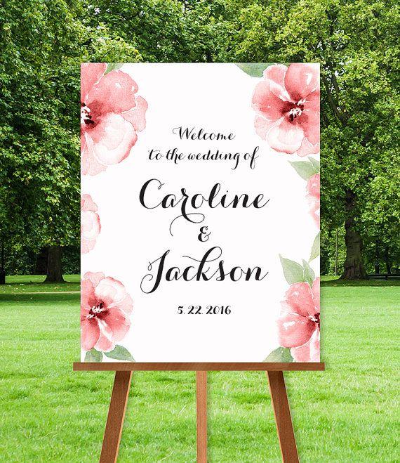 Floral Wedding Welcome Sign DIY / The CAROLINE by JadeForestDesign