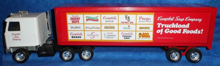ERTL CAMPBELL SOUP COMPANY GOOD FOODS PRODUCTS Pressed Steel Truck Trailer D10   #Ertl #none