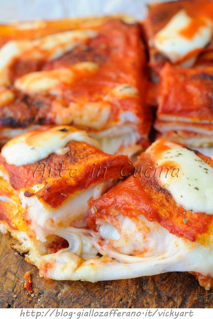 Tortino di pancarre gusto pizza veloce vickyart arte in cucina