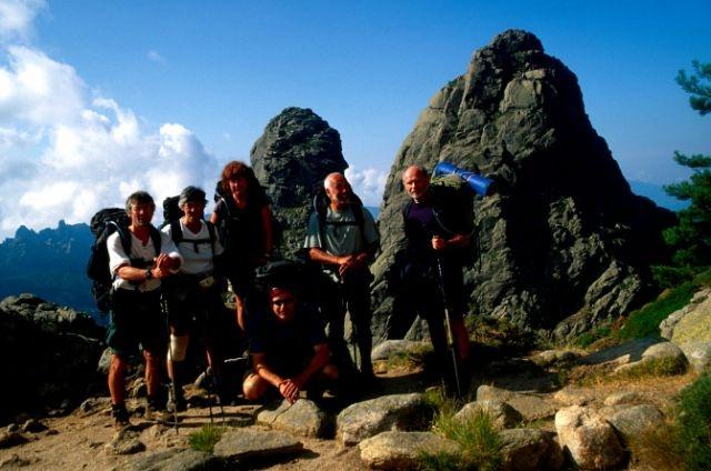 Team photo on the GR20, Corsica