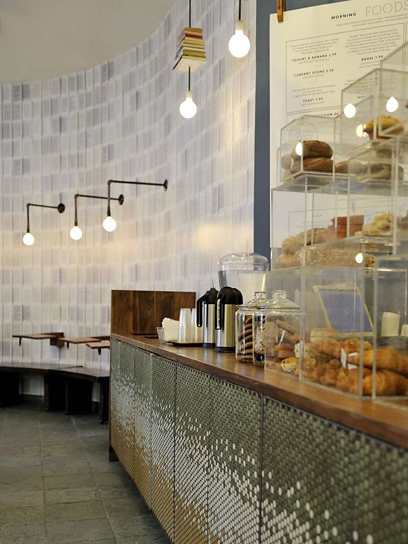 McNally Jackson Cafe by Front Studio Architects - So clean, simple, yet pleasant to look at!