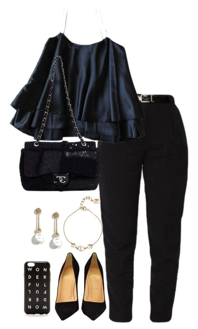 """""""Untitled #4686"""" by theeuropeancloset ❤ liked on Polyvore featuring ASOS, Christian Louboutin, Christian Dior and J.Crew"""