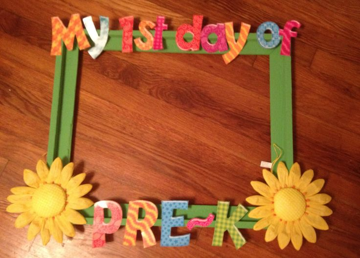 First day of pre-k frame:) perfect!