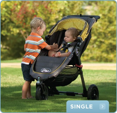 @babyjogger City Mini: Perfect for the city, travel and more! Collapse it with one hand.