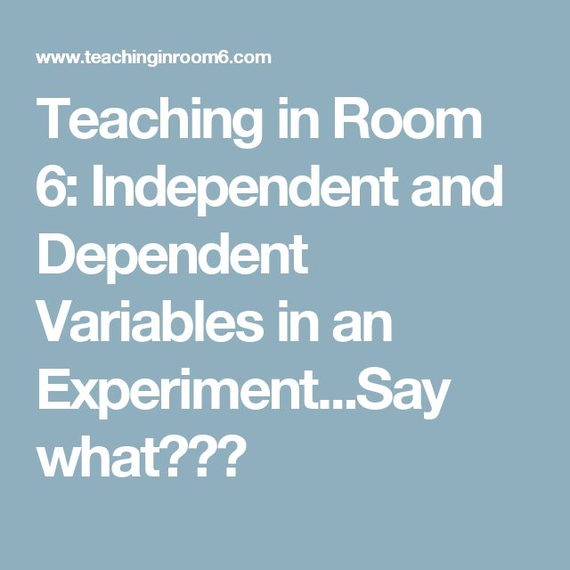 Independent and dependent variables in thesis