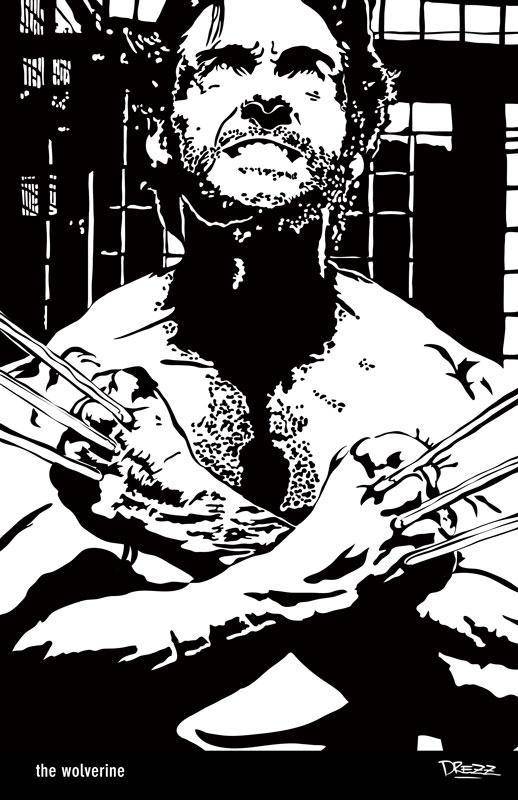 """""""The Wolverine"""" - Avatar Noir Artwork Commission, Classic Style. ©Drezz Rodriguez 2013"""