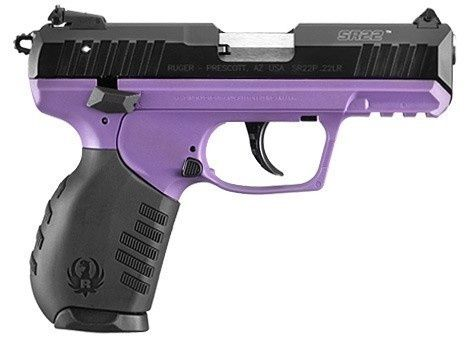 RUGER SR22 PURPLE PISTOL 22 LR for the ladies.  My daughter loves this.
