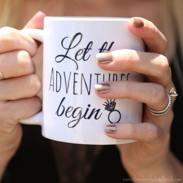 Let the Adventures Begin - Wedding planning mug