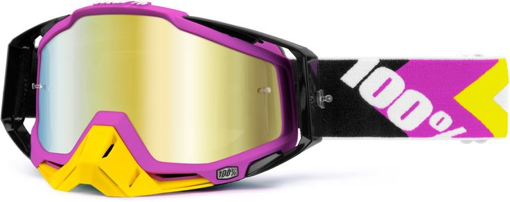 100% Crossbrille The Racecraft Hyperion 4 Black/Pink, Gold - verspiegelt 2014