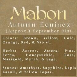 Sabbats- Wiccan & Pagans celebrate Mabon - Pinned by The Mystic's Emporium on Etsy