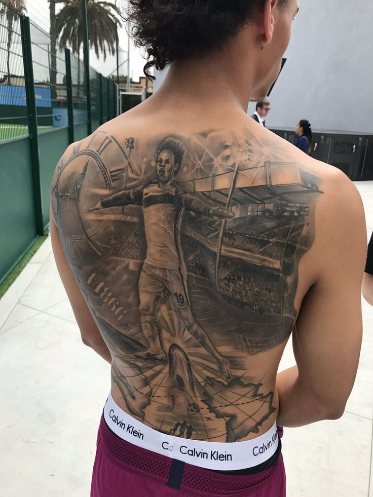 Manchester City winger Leroy Sané has opened up about the giant tattoo he has had inked on his back