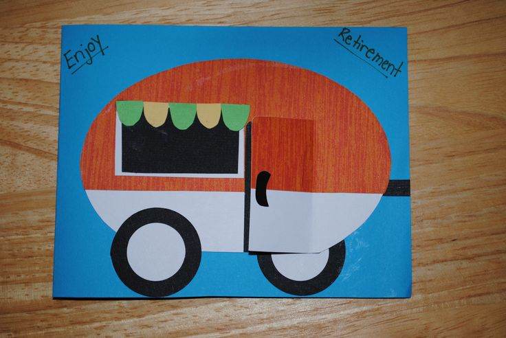 Motorhome Retirement Card