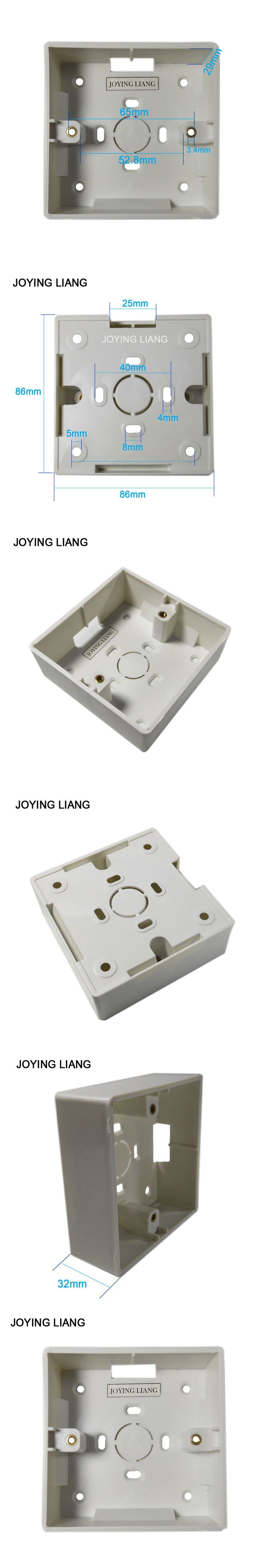Commonly Used PVC 86mm Exposed Socket Junction Box Visible Wall Electricity Wire Basic Box Connector Switch Socket Height 32mm