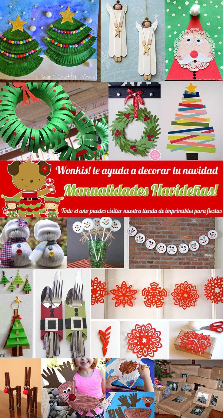 Manualidades Navideña - Muchas manualidades navideñas para decorar tu hogar, compartir con los niños y agasajar a tus seres queridos  http://www.wonkis.com.ar/2014/11/manualidades-navidenas/