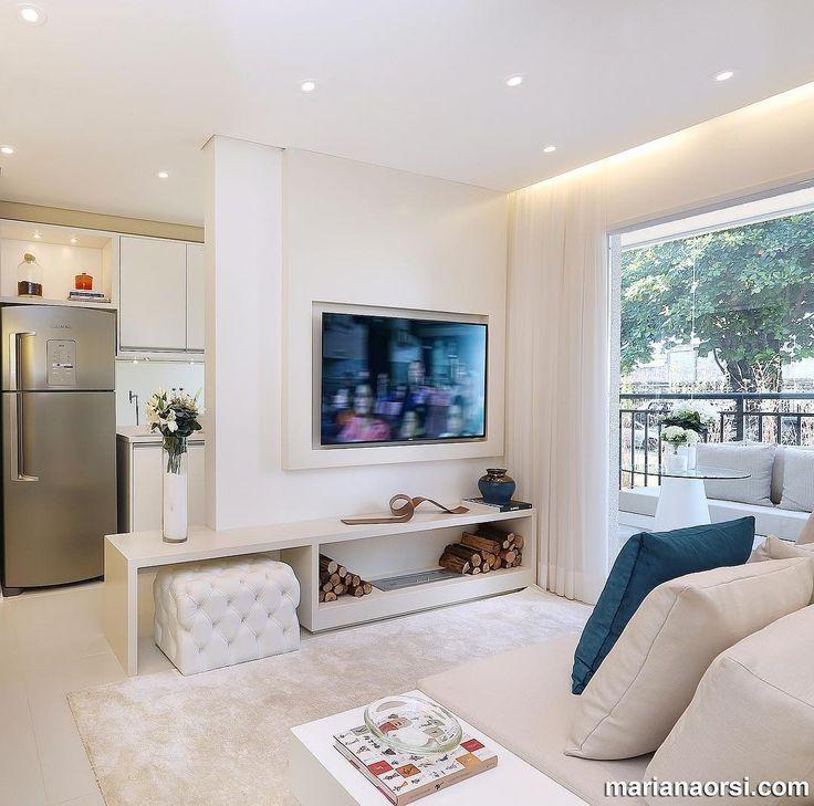 Apartamento compacto lindo e clean via @marianaorsifotografia