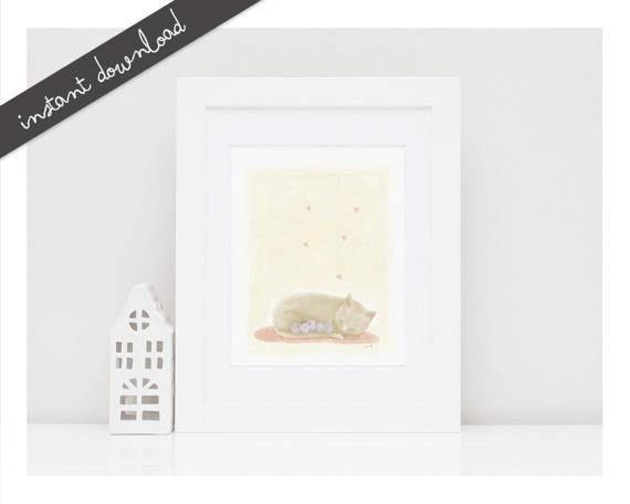 Printable Nursery Art 'Sleeping''Printable by LittleYellowDaisiess