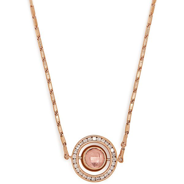 Marie Mas Diamond, amethyst, topaz & pink-gold necklace ($3,800) ❤ liked on Polyvore featuring jewelry, necklaces, pink, rose gold necklace, pave diamond necklace, rose gold diamond necklace, pink diamond necklace and african necklaces