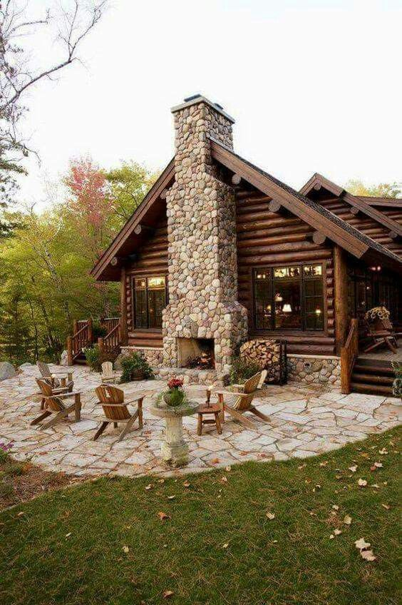 Who wouldn't love this cabin in the woods?