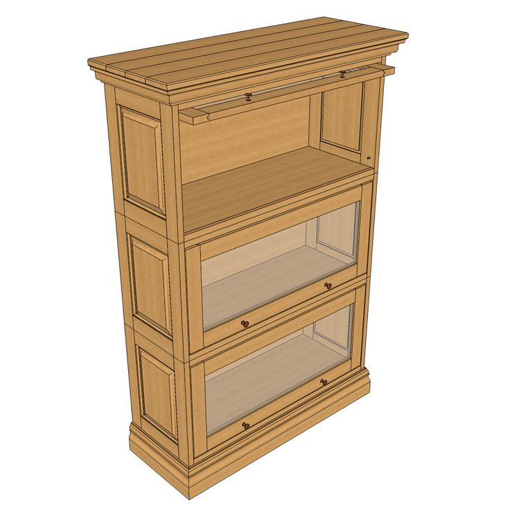 barrister bookcase woodworking plan by sawtooth ideas