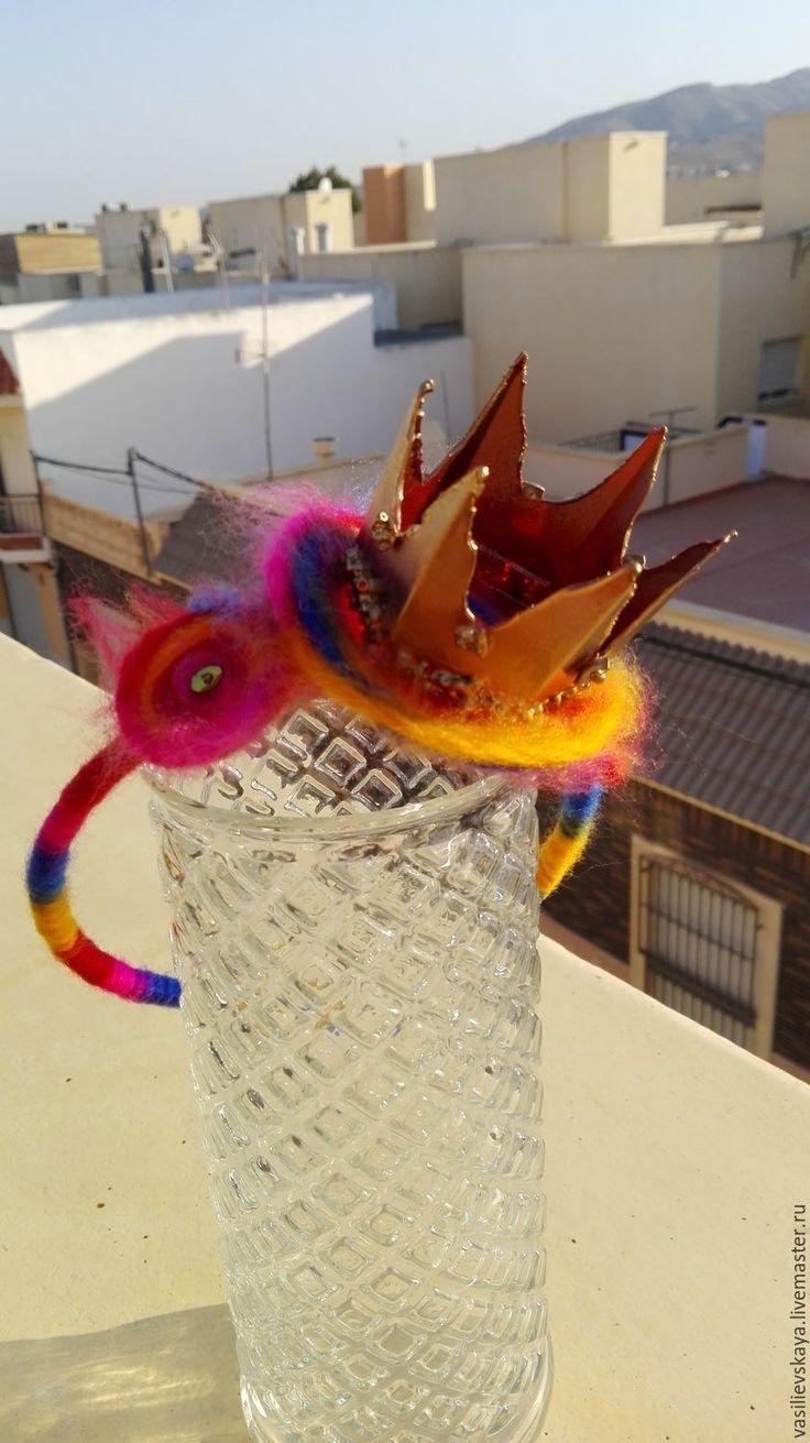Купить корона Золотая - комбинированный, яркие цвета, принцесса, корона, ободок для волос, ободок с цветком